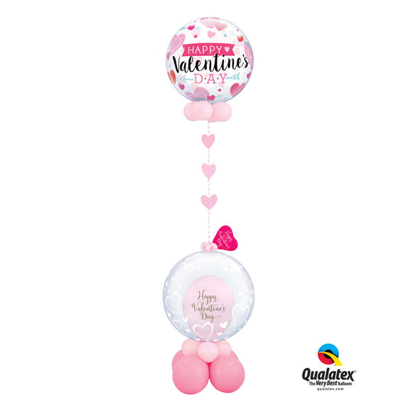 Floating Pink Hearts valentine