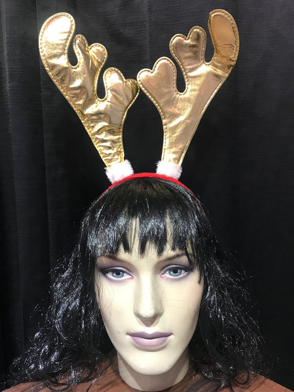 Reindeer gold metallic Headband