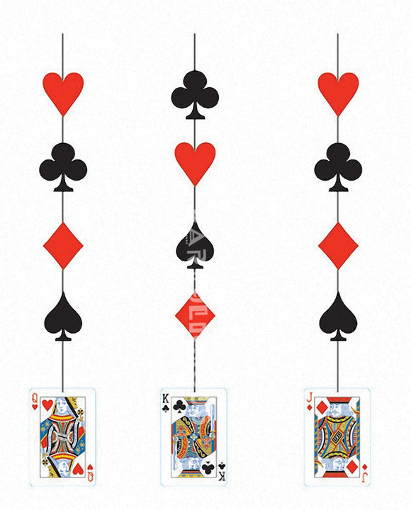CARD NIGHT HANGING CUTOUTS