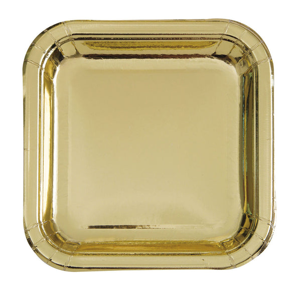 Gold Square Plates