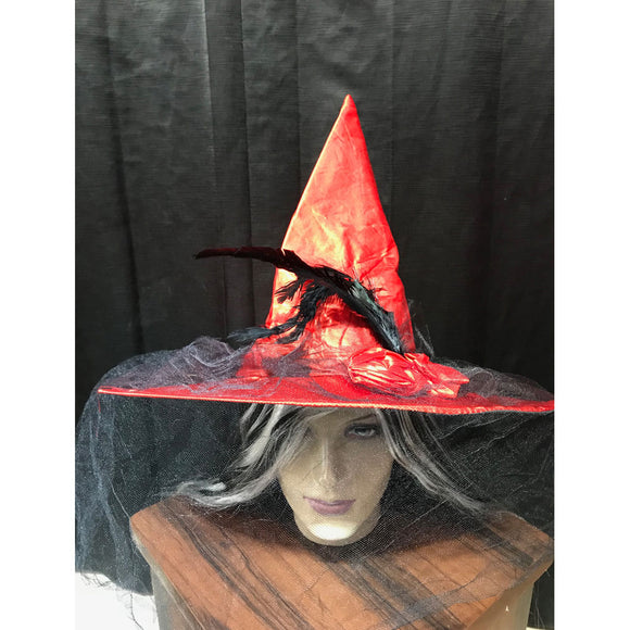 Halloween Red witch hat