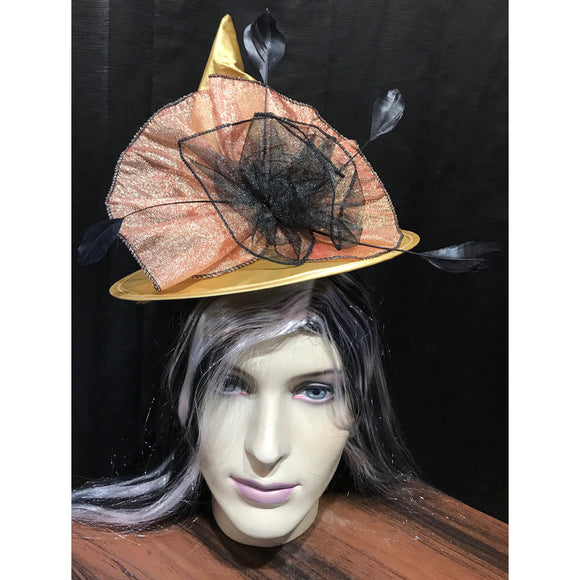 Gold Mini Satin Witch Hat