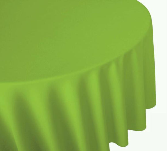 Lt Green Round Plastic Tablecover
