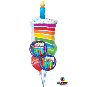 Rainbow Cake & Candle shape Staggered