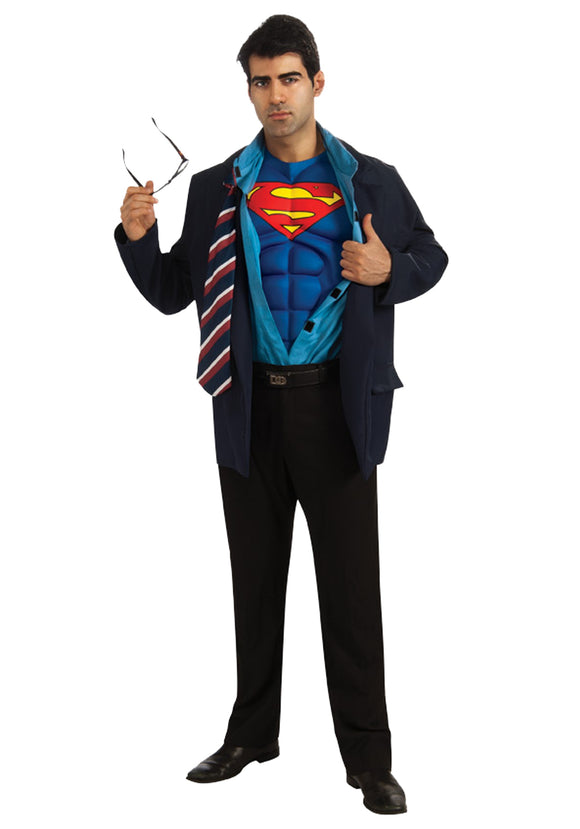 Adult Clark Kent Superman Costume