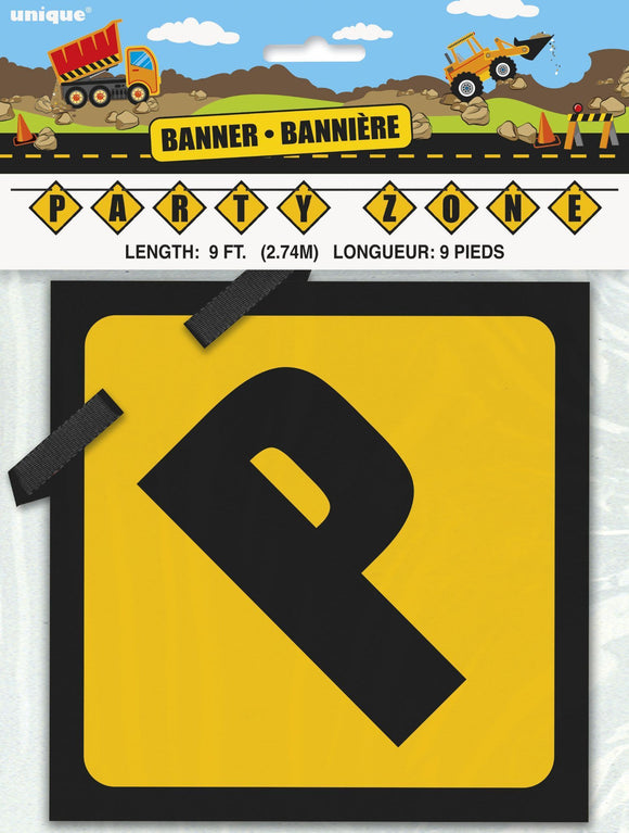 Construction Party Block Banner