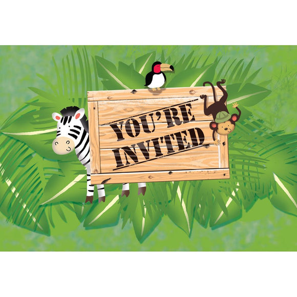 safari adventure invitation 8/pk
