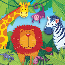 Jungle Animal luncheon napkins
