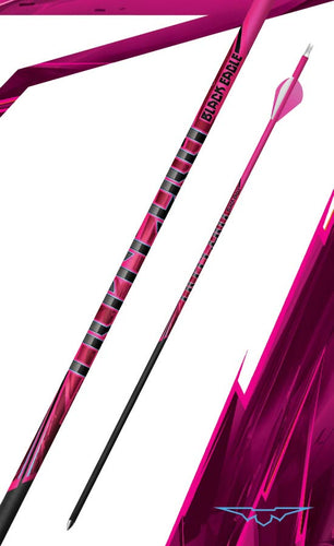 Black Eagle Outlaw Fletched Pink Crested Arrows  -  6 Pack