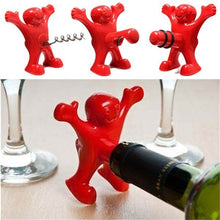 Party with Happy Man!  Wine Opener Corkscrew, Bottle Stopper and Bottle Opener