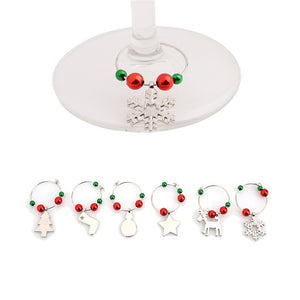 Fashionable Wine Glass Charms For Christmas - Perfect for Parties and Christmas Gifts (6 Pcs/Set)