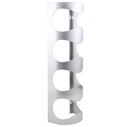 Stainless Steel Wall-mounted Plating Wine Holder Plated Table Top Bottle Holder Iron Wine Display Rack Home Accessory for Four Packs Wine