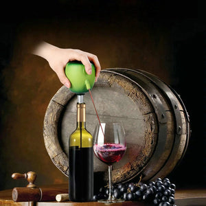 "Unique ""Green Apple"" Wine Pourer, Decanter and Pump (Electric)"