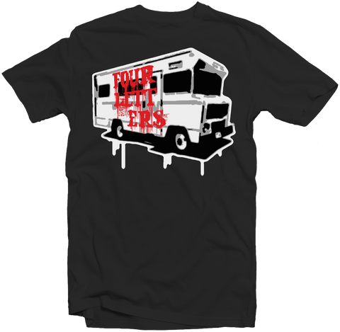 Men's black Tee - Always on Tour - fatbol