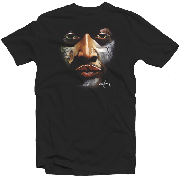 Men's Black Fatbol Tee Featuring Chali 2na