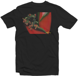 "Men's Black Fatbol Crew Neck Tee Featuring Chali 2na ""Tree Frog"" - fatbol"