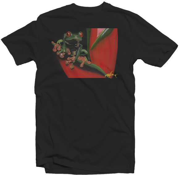 Men's Black Fatbol Crew Neck Tee Featuring Chali 2na