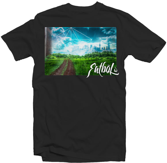 Men's Black Fatbol Crew Neck Tee