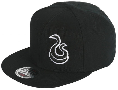 Hustle Snapback - Black/White - fatbol