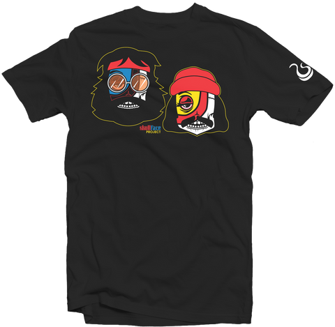 "Men's Black Fatbol Skullface Crew Neck Tee ""Up in Smoke"" - fatbol"