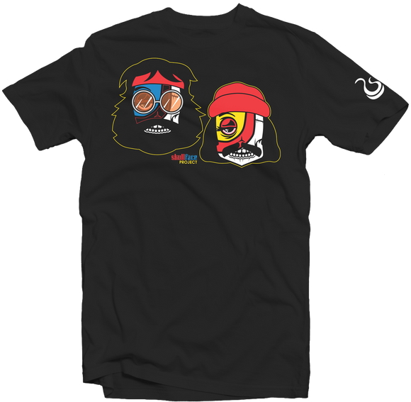 Men's Black Fatbol Skullface Crew Neck Tee