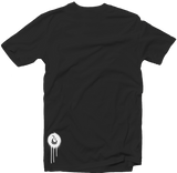 "Men's Black Fatbol Crew Neck Tee ""Hustle Tech"" - fatbol"