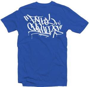 "Royal Blue Men's Fatbol Crew Neck Tee ""Cyphers"" - fatbol"
