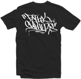 "Men's Black Fatbol Crew Neck Tee ""Cyphers"" - fatbol"