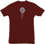 "Men's Burgundy Fatbol Crew Neck Tee ""Hustle Tech"" - fatbol"