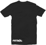 "Men's Black Fatbol Crew Neck Tee ""Hustle/Love"" - fatbol"