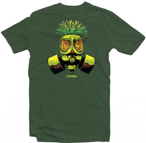 "Men's Forest Green Fatbol Crew Neck Tee ""Breathe Easy"" - fatbol"