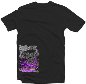 "Men's Black Fatbol Crew Neck Tee ""Ganesh"" - fatbol"