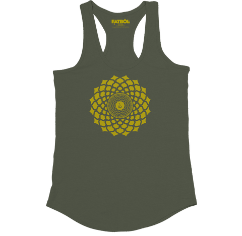 Gold Lotus Racerback - Army