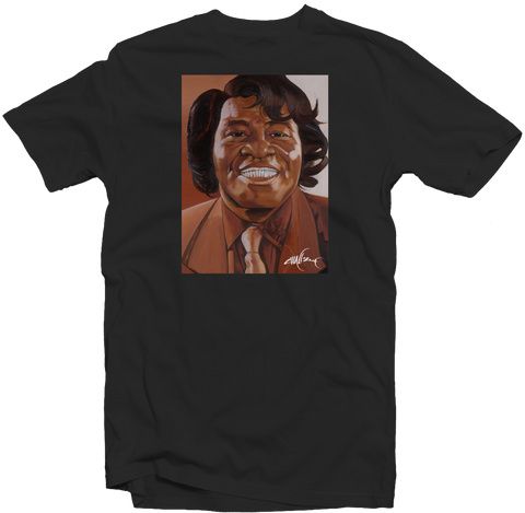 "Men's Black Fatbol Tee Featuring Chali 2na ""James Brown"" - fatbol"