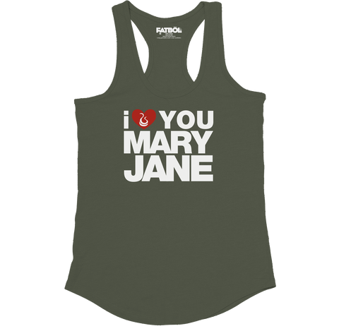 Mary Jane Racerback - Army