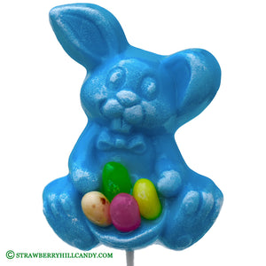Easter Bunny Pops with Jelly Beans, Blue Raspberry or Pink Strawberry