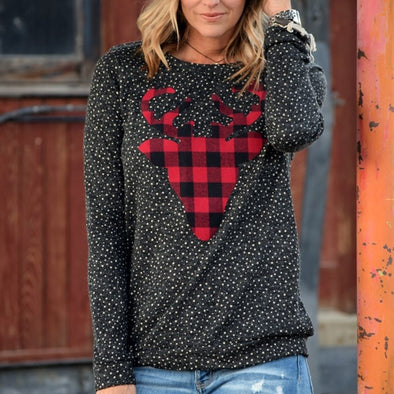 Buffalo Plaid Reindeer Tunic