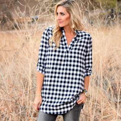 3Brunettes Buffalo V-Neck Tunic