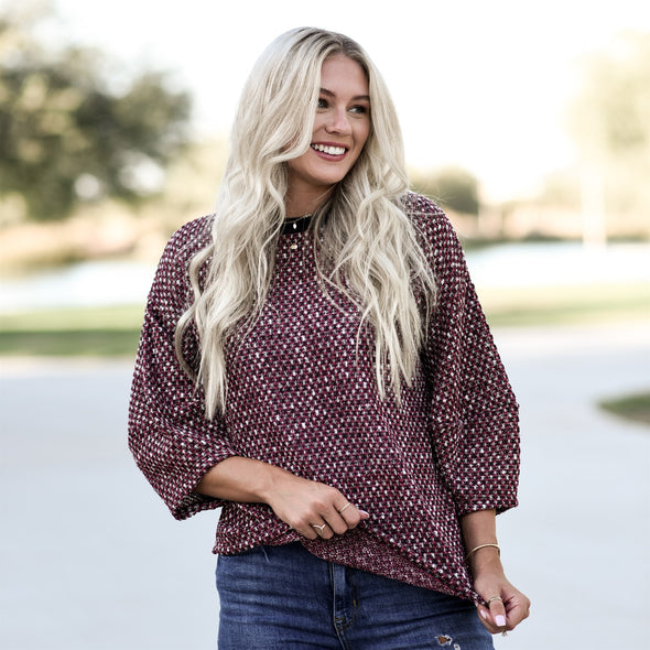 3Brunettes Chic Bubble Sleeve Top
