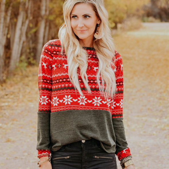 3Brunettes Classic Winter Sweater
