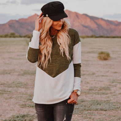 3Brunettes Colorblock Sweater Tunic
