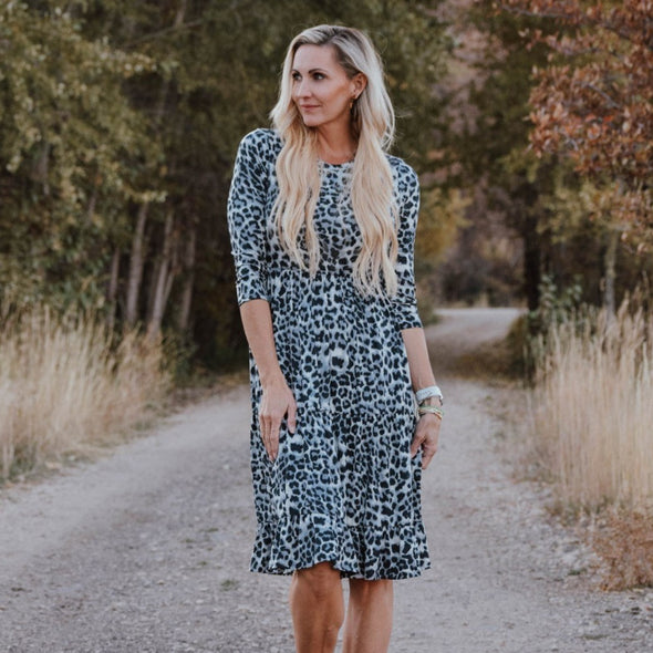 Comfy Animal Print Dress