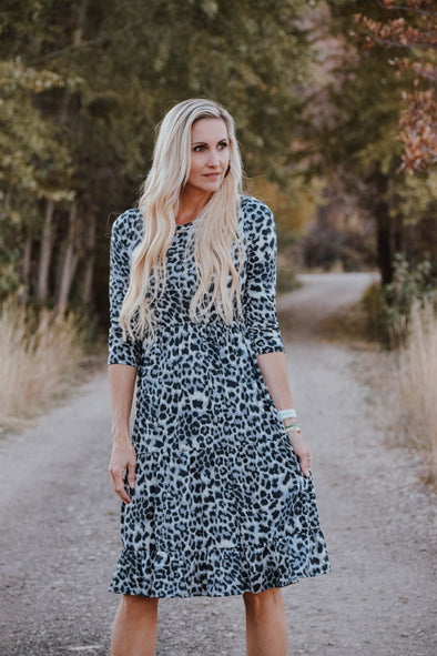 3Brunettes Comfy Animal Print Dress