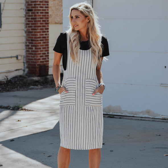 3Brunettes Contrast Stripe Dress
