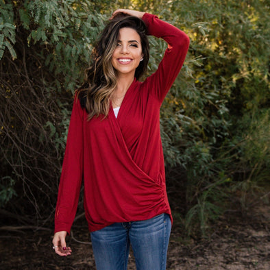 3Brunettes Draped Jersey Top