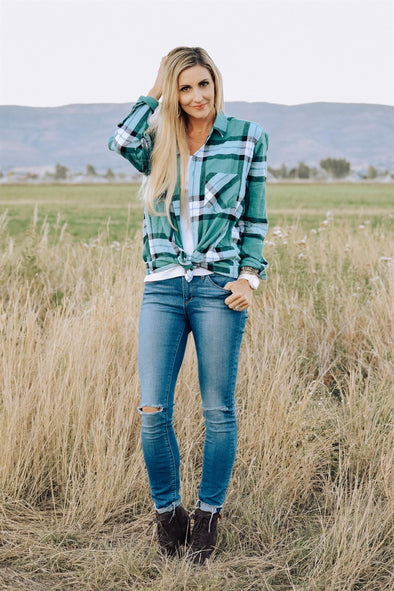 3Brunettes Everyday Plaid Tunic