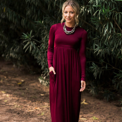 High Waisted Long Sleeve Maxi