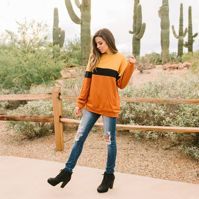 3Brunettes Luxe Colorblock Sweater