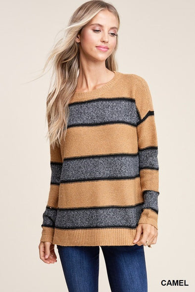 Luxe Stripe Pullover Sweater