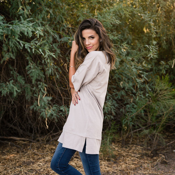 Oversized Boyfriend Tunic